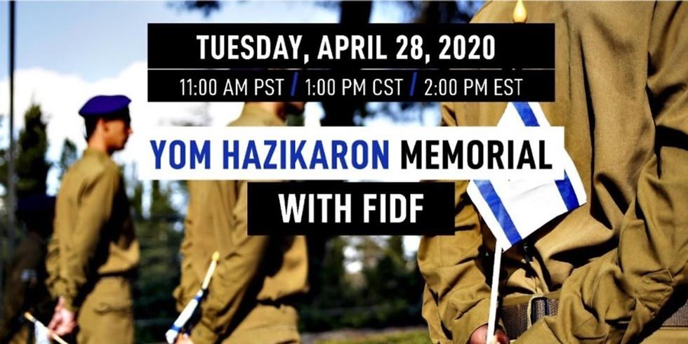 Yom HaZikaron Memorial with FIDF