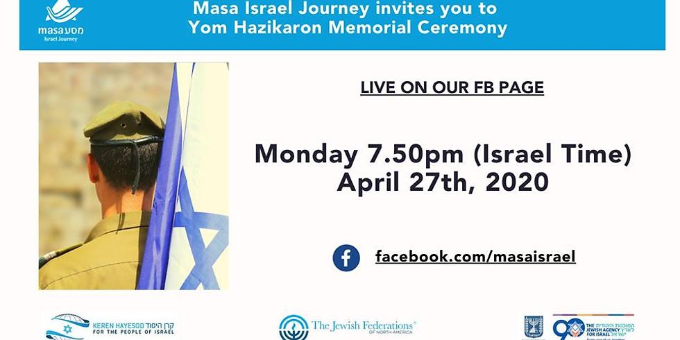 Yom HaZikaron Virtual Memorial Service with Masa