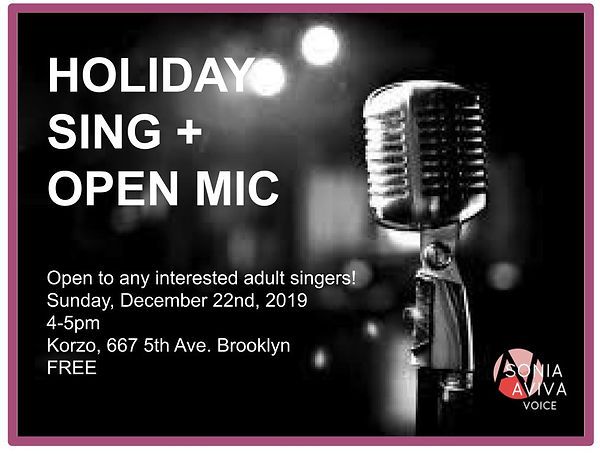 Holiday Sing and Open Mic 2018 (better w