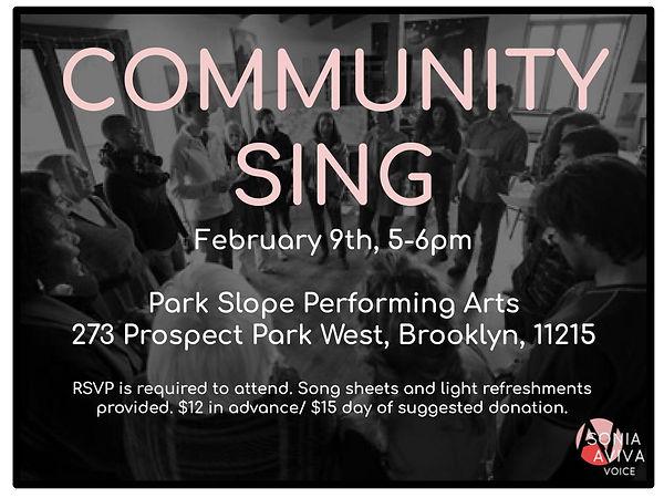 Community Sing Fall Meet Up coming soon-