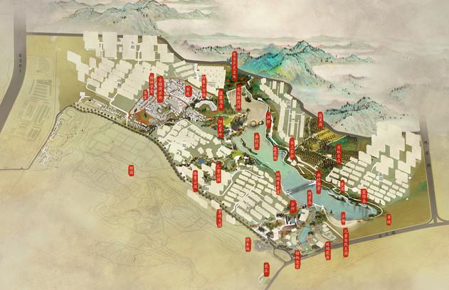 郑州万科方顶小镇景观总体概念规划