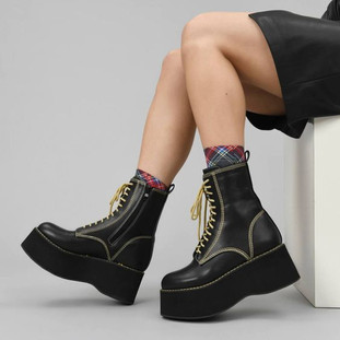Enigma Mega Platform Neon Boots - Koi Footwear