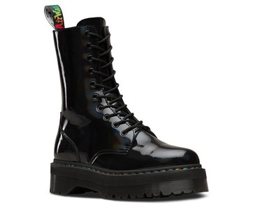Jadon HI Rainbow Patent Boots - Dr Martens