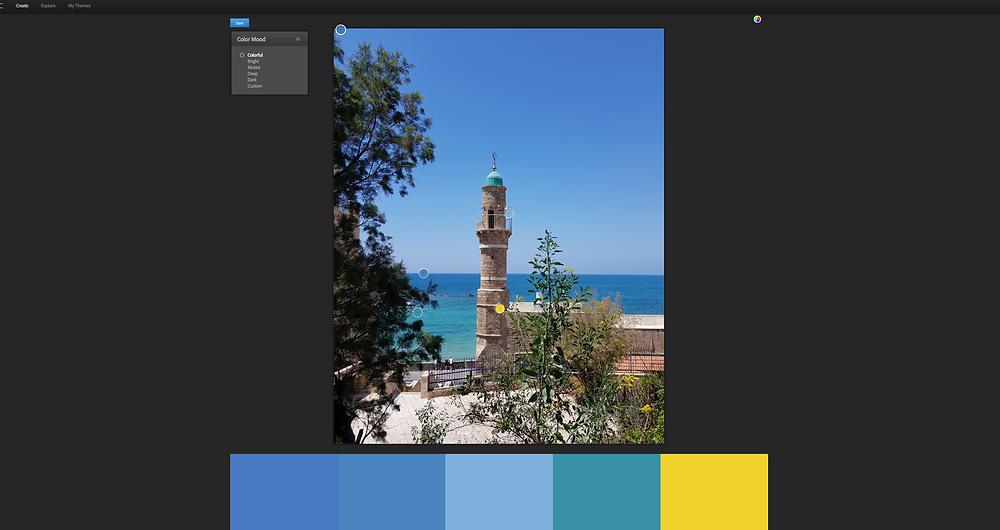 דגימת צבעים מצילום
