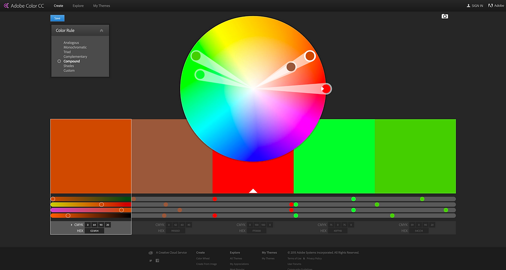 צבעים משלימים מפוצלים (SPLIT COMPLIMENTARY)