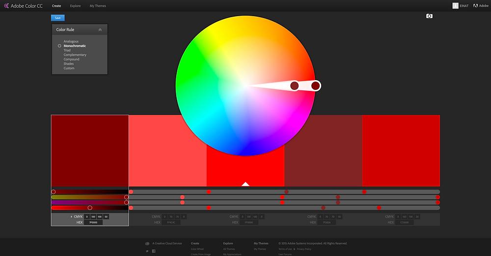 צבעים מונוכרומטים (MONOCHROMATIC)