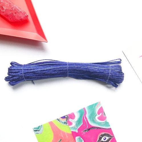Blue metallic decoration ribbons