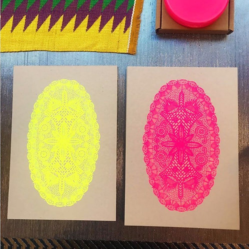 Silkscreen printed card