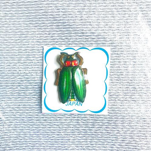 Vintage brooch beetle 60es Japan
