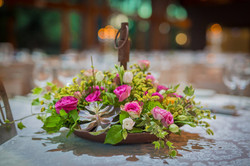 סידור פרחים לי מתכת חום