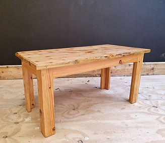 Short larch coffee table