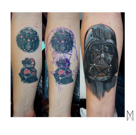 Darth Vader cover up Tattoo