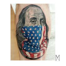 Benjamin Franklin Tattoo