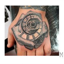 Rose and Clock Tattoo