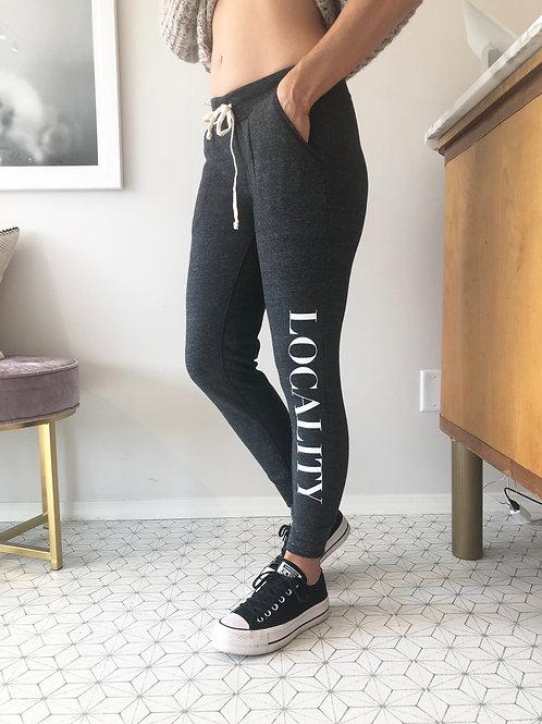 LOCALITY  Eco-Black Sweatpants
