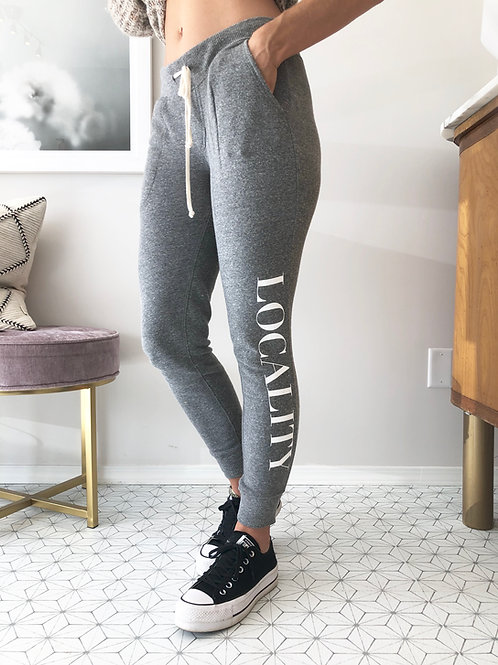LOCALITY  Eco-Grey Sweatpants