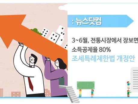 3~6월 전통시장에서 장보면 소득공제율 80%