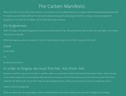 Carben Manifesto