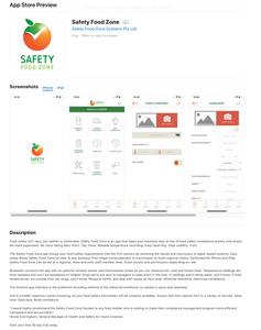 Safety Food Zone App Store Description