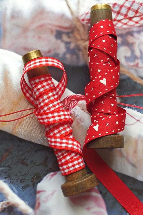 Crimson red heart ribbon