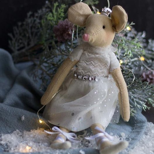 Winter White Ballerina Mouse