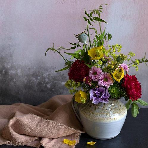Artisan studio pottery jug