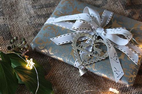Dove grey mistletoe ribbon