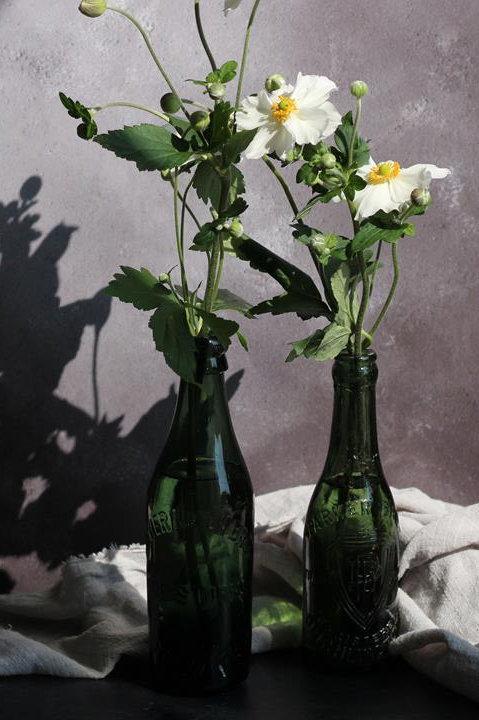 Vintage glass beer bottle