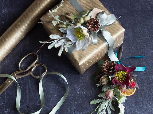 Silk flower gift corsage