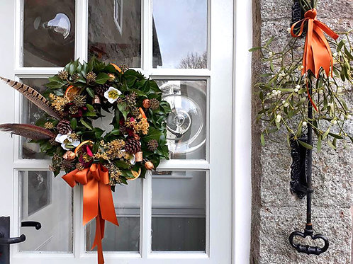 Fresh floral Christmas wreath UK