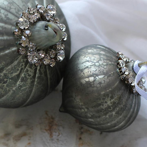 Sage diamante bauble home decor