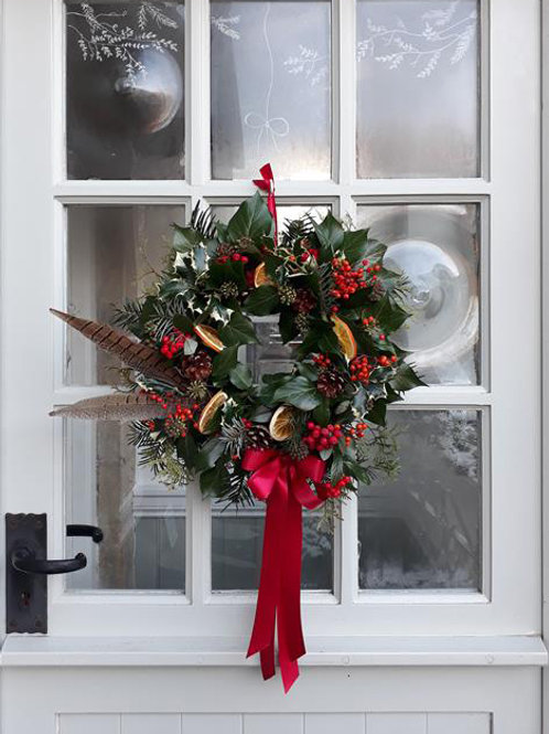 Handmade Christmas floral wreath online UK