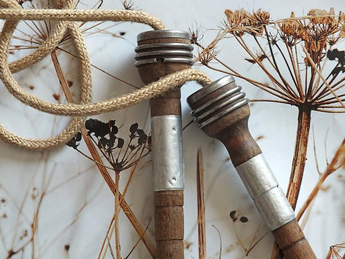 Vintage wooden skipping rope