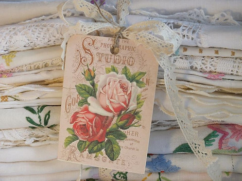 Embroidered vintage tablecloth