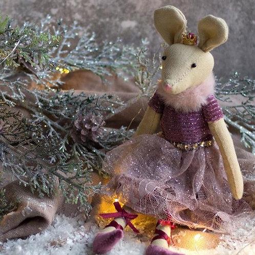 Dark Rose Ballerina Mouse