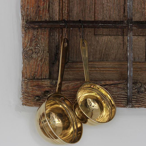 Vintage french brass seive