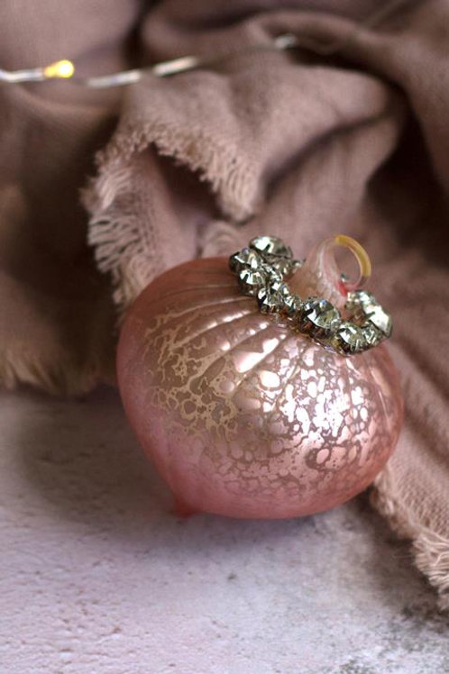 Blush pink bauble decoration
