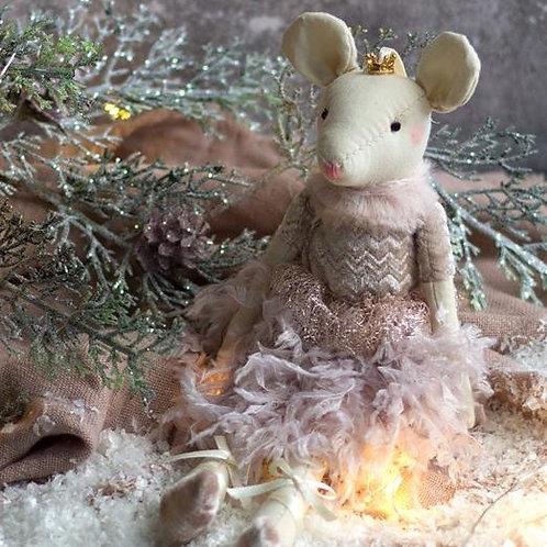 Dusky Pink Ballerina Mouse