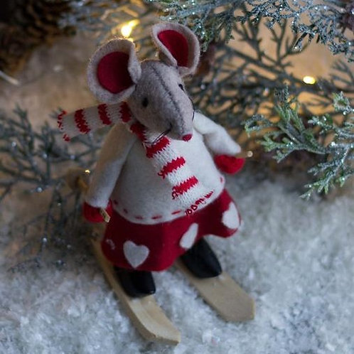 Girl Skiing Mouse