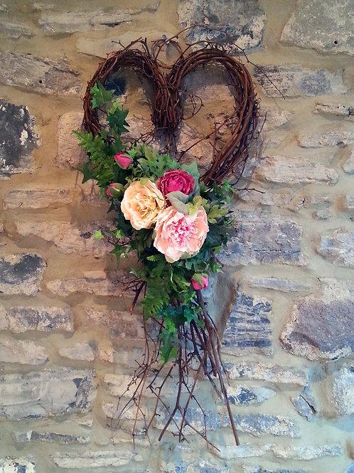 Everlasting silk flower wreath