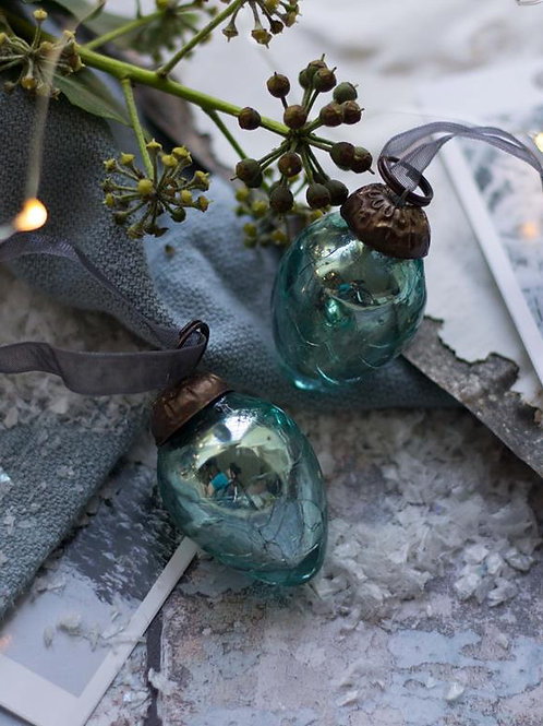 Mint Crackle Egg Bauble