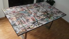 """Tischplatte """"Zuhause"""""""