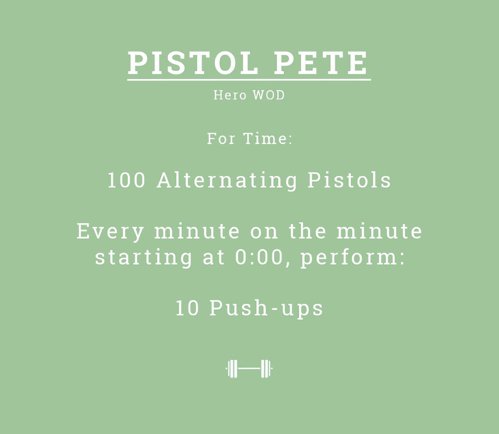 Pistol Pete WOD
