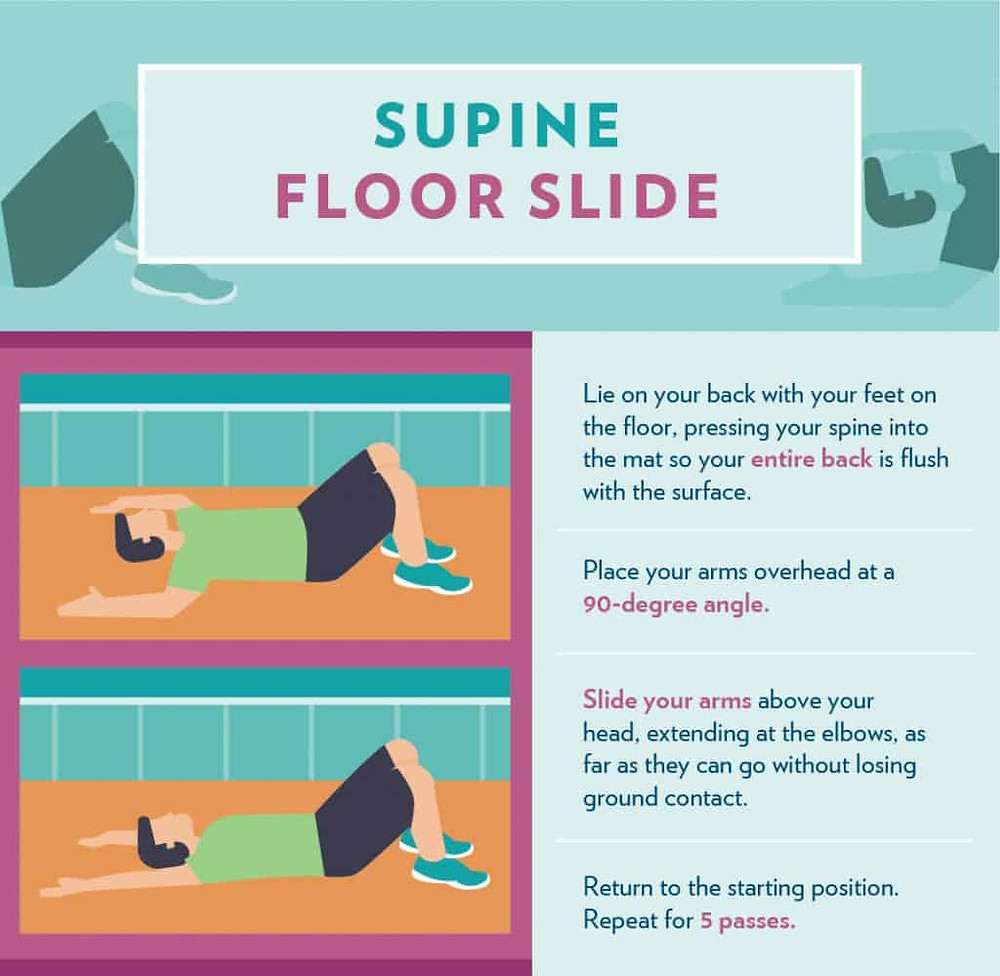 Supine Floor Slide infographic