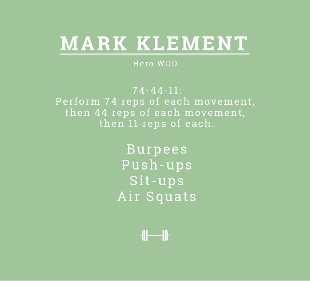 Mark Klement WOD