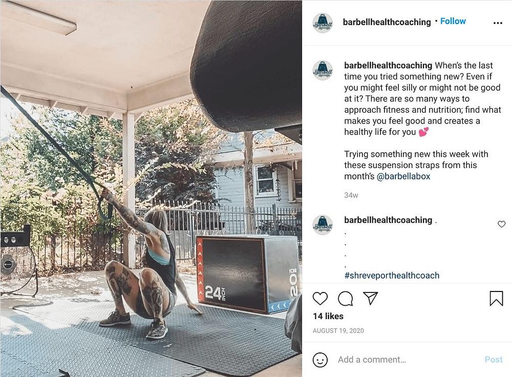 barbella instagram screenshot