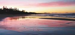 Brunswick Heads sunset on the beach