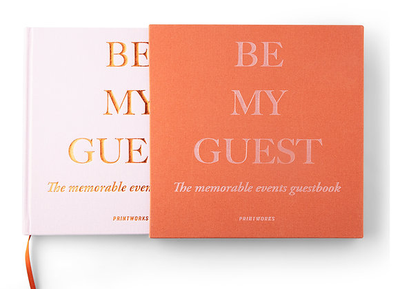 """""""Be My Guest"""" Guest book"""
