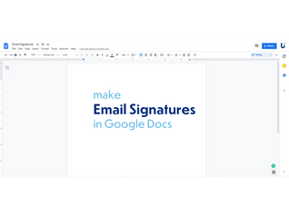 Make Email Signatures with Google Docs.