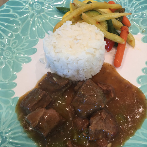 Beef Tips & Rice